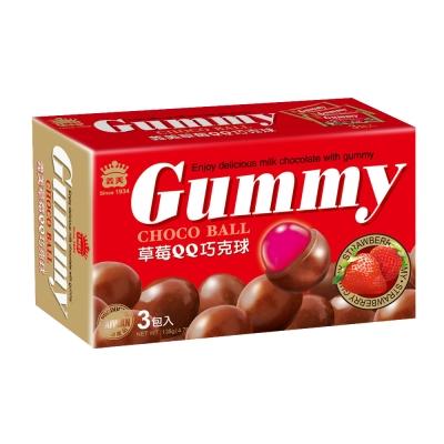 義美 草莓QQ巧克球量販盒(135g)