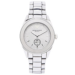 ARMANI Ceramica  時尚鈦陶瓷女性手錶(AR1463)-鐵灰面/38mm