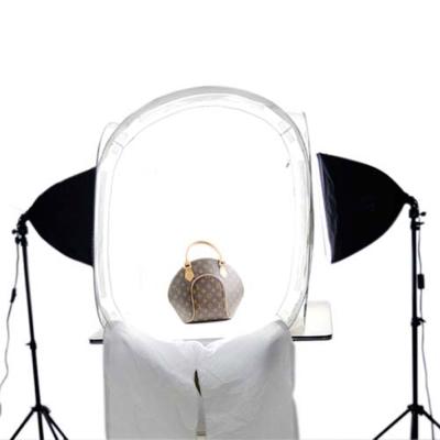 雙無影柔光罩-80CM攝影棚雙燈50W白光套組