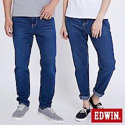 EDWIN 503九分隨性AB褲-中性-中古藍