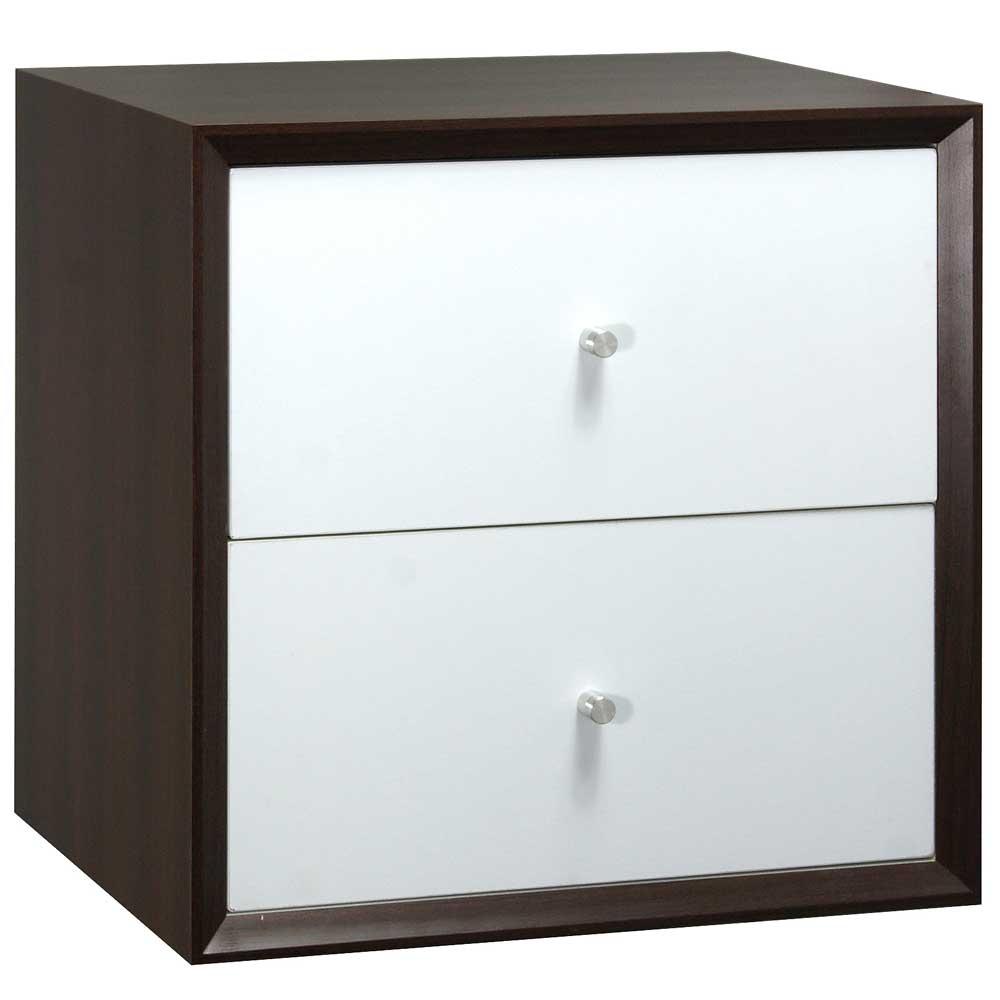 魔術方塊36系統收納櫃/二抽櫃-胡桃色