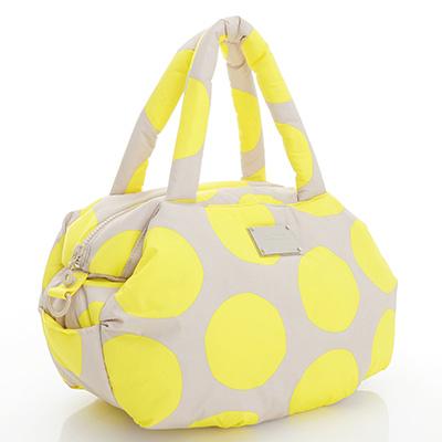 VOVAROVA空氣包-三用肩背托特包-波卡圓點(黃)