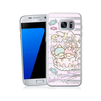 三麗鷗正版 雙子星 三星 Galaxy S7 5.1吋 透明軟式保護殼(花籃)