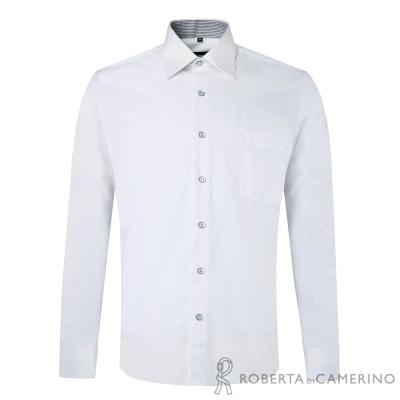 ROBERTA諾貝達 台灣製 嚴選穿搭 商務紳士長袖襯衫 白色