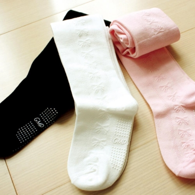 GMP BABY 提花止滑幼兒褲襪(白)~1雙