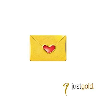 鎮金店Just Gold 經典復刻版Kitty黃金單耳耳環-信封