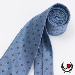 極品西服 經典Teflon防潑水100%絲質提花領帶_ 水藍(YT5050)