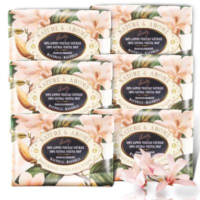 義大利Rudy米蘭古典木蘭花保濕香皂150g六入組