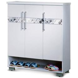 《居》歐夏蕾3尺白色三門鞋櫃