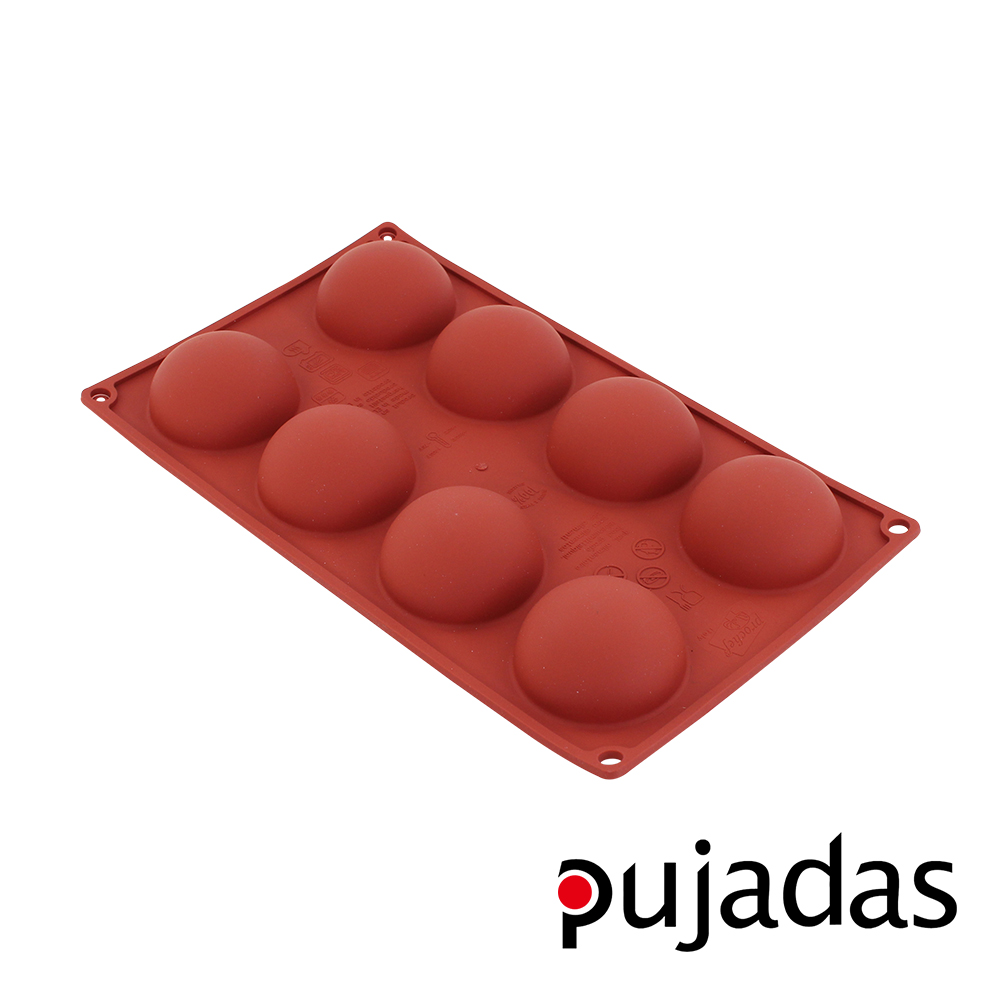 西班牙pujadas矽膠8格點心膜(半球型)