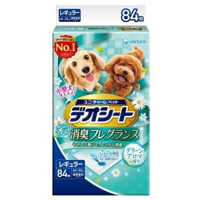 日本Unicharm消臭大師 小型犬狗尿墊 森林香 M號 84片裝 x 1包