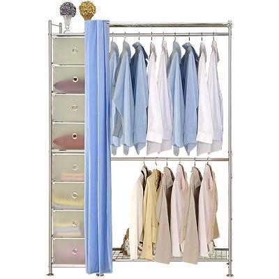 巴塞隆納─W 2 +D型 90 公分衣櫥置物架