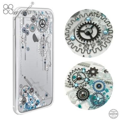apbs iPhone6s/6 PLUS 5.5吋 施華洛世奇彩鑽金屬框手機殼-...