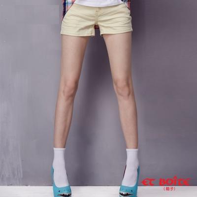 ETBOITE 箱子 BLUE WAY AMOUR雙色短褲-黃
