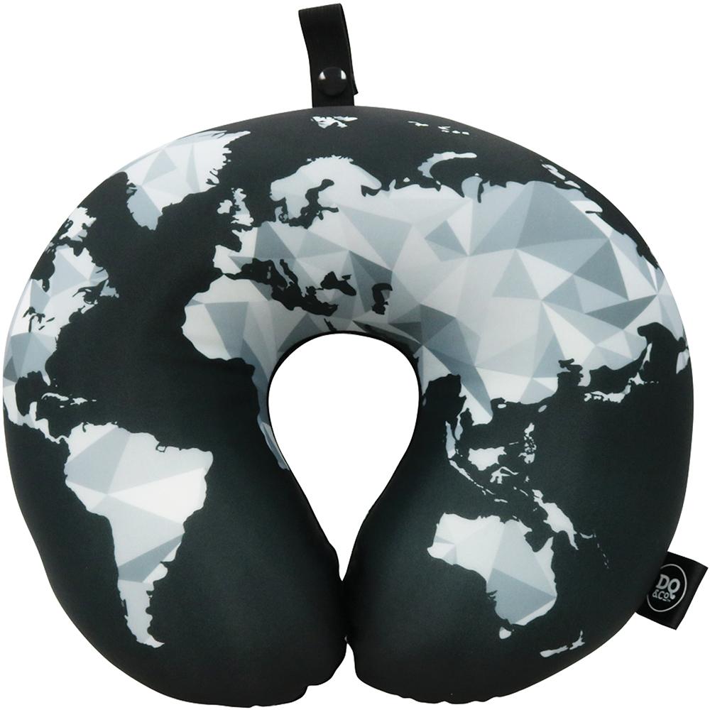 DQ 緩衝顆粒護頸枕(幾何地圖)