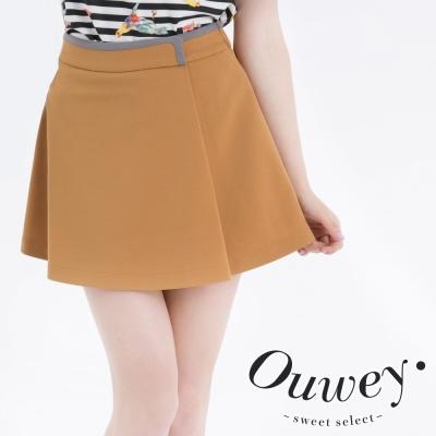 OUWEY歐薇-腰間配色褲裙-共2色