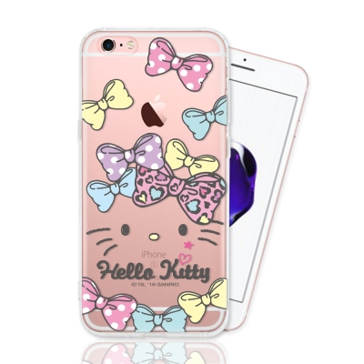 HELLO KITTY iphone 6s Plus 彩繪空壓手機殼-蝴蝶結