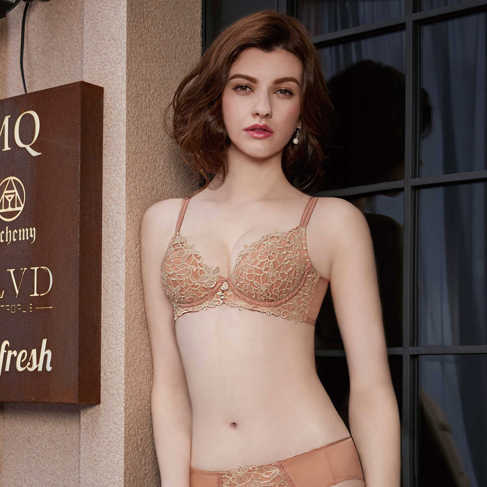 曼黛瑪璉 Marie One 蕾絲內衣  B-E罩杯(時尚膚)