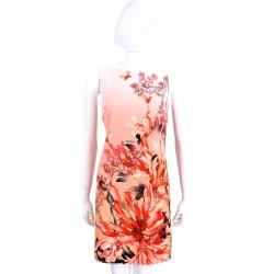 Maria Grazia Severi 橘紅色花卉圖案無袖洋裝