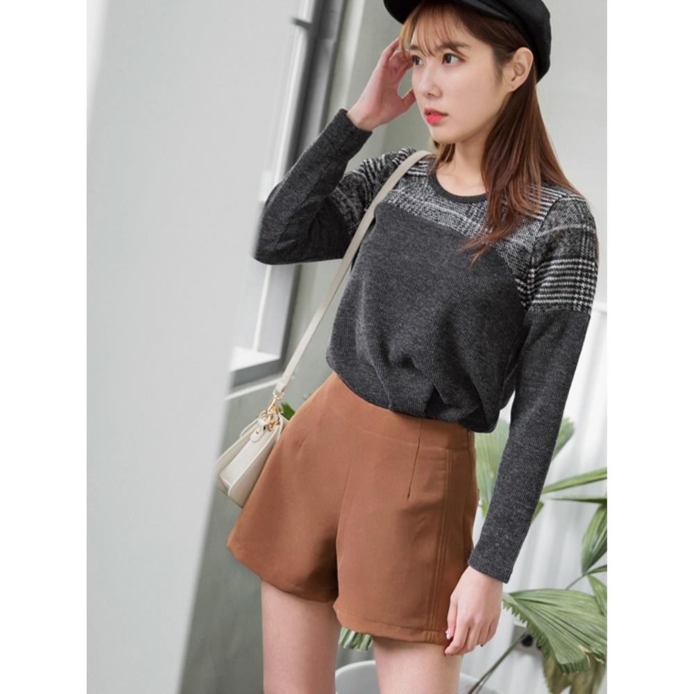 質感純色西裝短褲-OB大尺碼