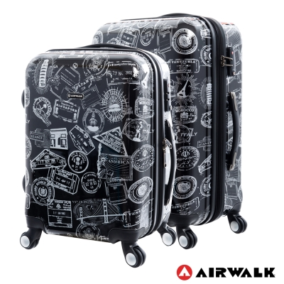 AIRWALK  - 精彩歷程 環郵世界行李箱20+24吋二箱組(遊玩靚黑)