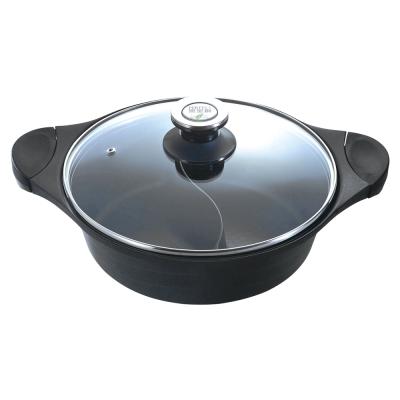 PERFECT 日式黑金鋼鴛鴦鍋30CM-附蓋