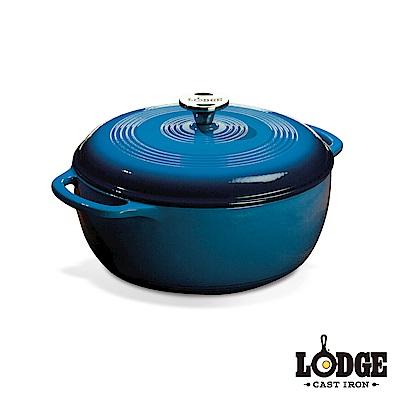 Lodge 鑄鐵琺瑯鍋6Q/5.7公升(海洋藍)