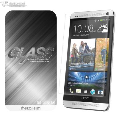 Metal-Slim HTC ONE(M7) 9H弧邊耐磨防指紋鋼化玻璃保護貼
