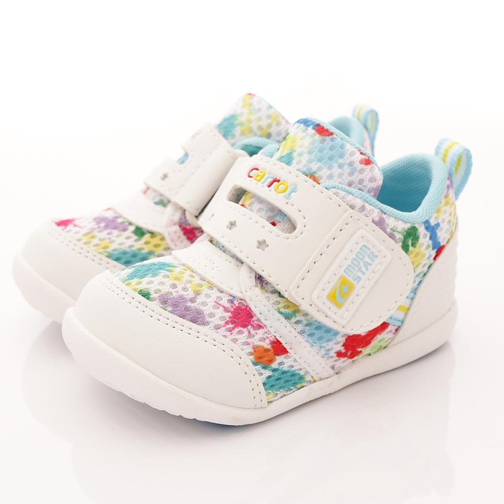 日本Carrot機能童鞋-輕量速乾學步款BNI01白(寶寶段)T