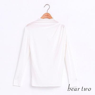 beartwo 微透光彈性修身純色上衣(4色)