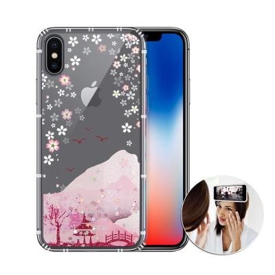 EVO反重力 iPhone X 亮粉空壓手機殼(浪漫櫻花)