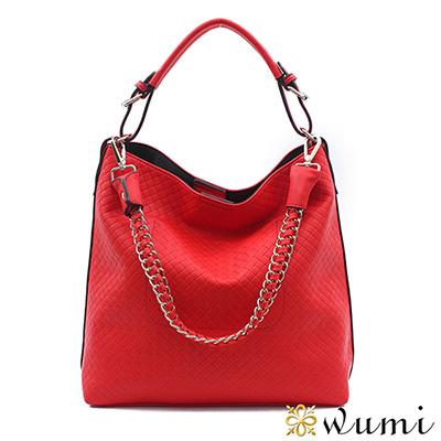WuMi-無米-瑪西亞鍊帶編織包-戀愛紅