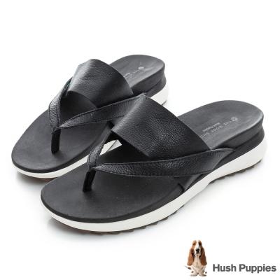 Hush Puppies IVA 時尚輕量涼拖鞋-黑色