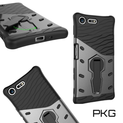 PKG SONY XZ Premium抗震防摔保護殼(戰甲灰)