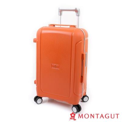 MONTAGUT夢特嬌-19吋 蜜糖夾心窄鋁合金 行李箱-甜心橘