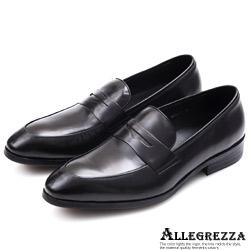 ALLEGREZZA‧經典玩味義式小牛皮革皮鞋  黑色