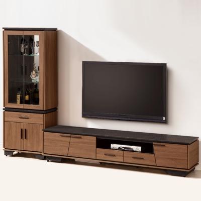 Bernice-伯倫9.2尺L型櫃電視櫃組合-277x47x189cm