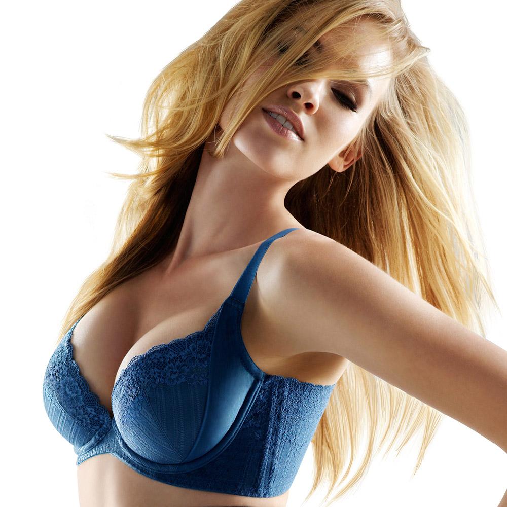 黛安芬‧曲線美体衣  逆齡Bra B-C罩杯內衣(寶石藍)