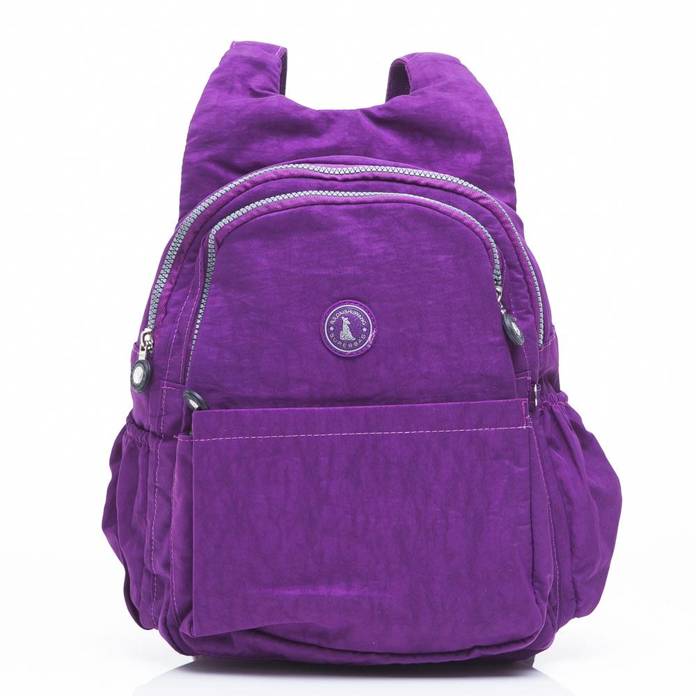 冰山袋鼠 - 休閒系舒適平肩背輕盈款後背包-新紫(快)