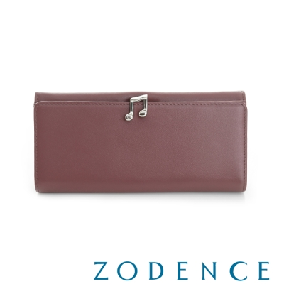 ZODENCE 西班牙牛皮系列完美和弦音符設計長夾 紫