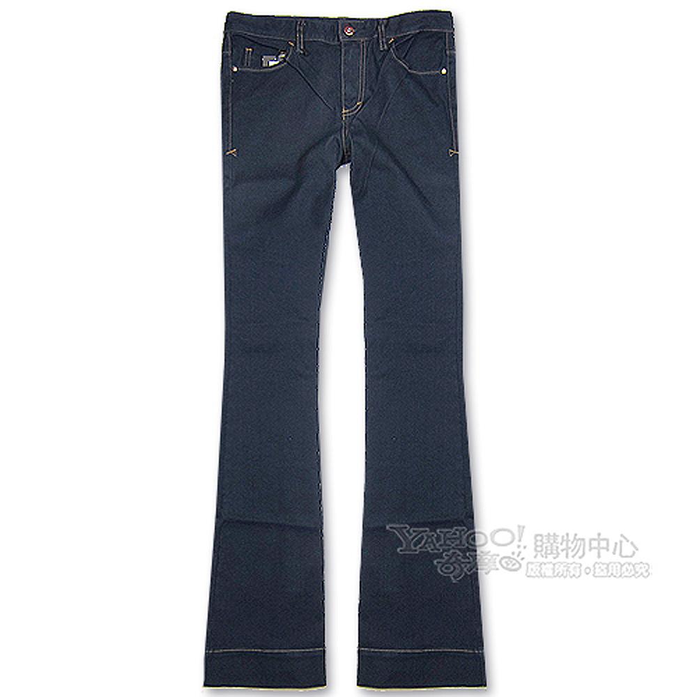 A│X Armani Exchange 大喇叭女牛仔褲(深藍)