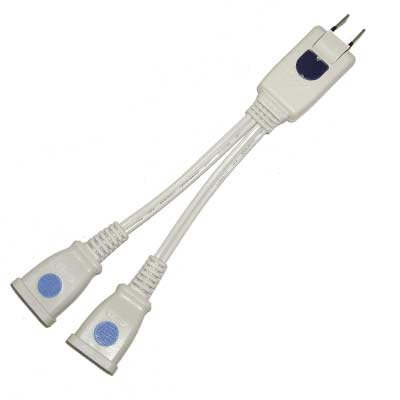 1對2 分離式 轉接電源插座 2P 2座 2入