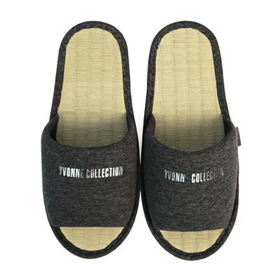 Yvonne Collection草蓆室內拖鞋-鐵灰M