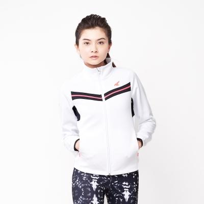 【AIRWALK】簡約時尚修身 V型剪接高領外套-白色