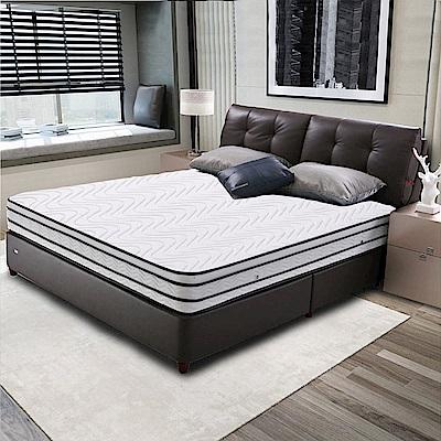 艾維斯-凱撒3M防潑水竹炭邊條四線獨立桶床墊-雙人
