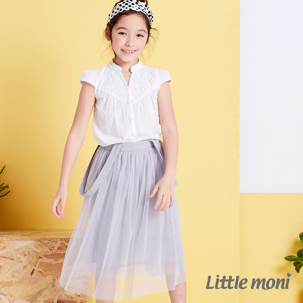 Little moni 法式浪漫吊帶式網紗蓬裙 (3色可選)