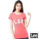 Lee 短袖T恤 白LOGO印刷 -女款(橘