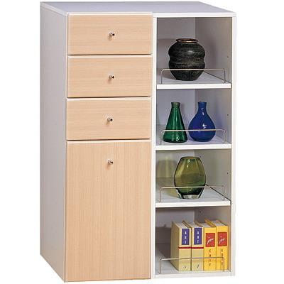 《米妮Mini》大細縫櫃/收納櫃組-白橡色