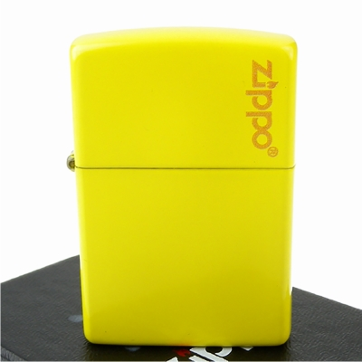 【ZIPPO】美系~LOGO字樣打火機-Lemon檸檬黃烤漆