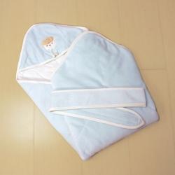 GMP BABY台灣製素色羊絨舒適嬰兒包巾1件 藍色